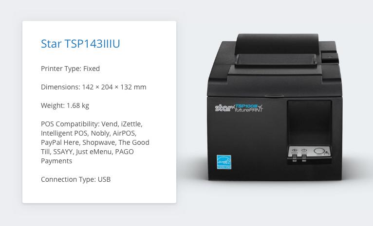 Star TSP143IIIU Receipt Printer