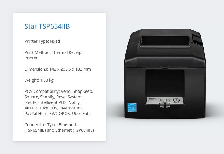 TSP654IIE Receipt Printer Specs