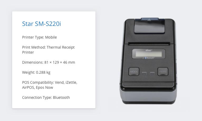 Star SM-S220i iZettle Receipt Printer