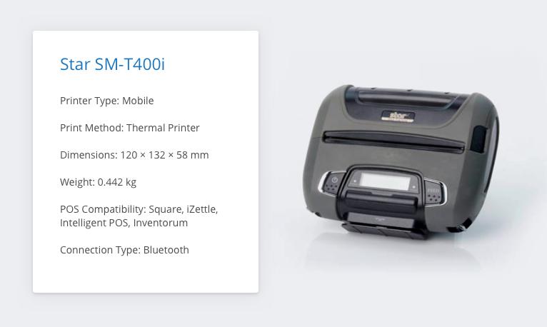 Star SM-T400i iZettle Receipt Printer