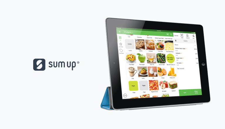 SumUp's POS Screen